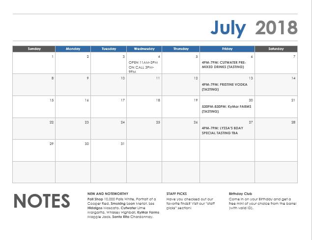 calendarjuly2018